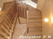 Профессиональный монтаж лестниц из дерева